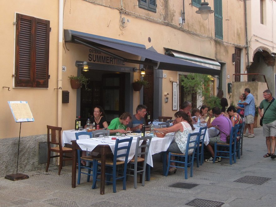 Elba 2016: Osteria Summertime in Capoliveri, Via Roma.